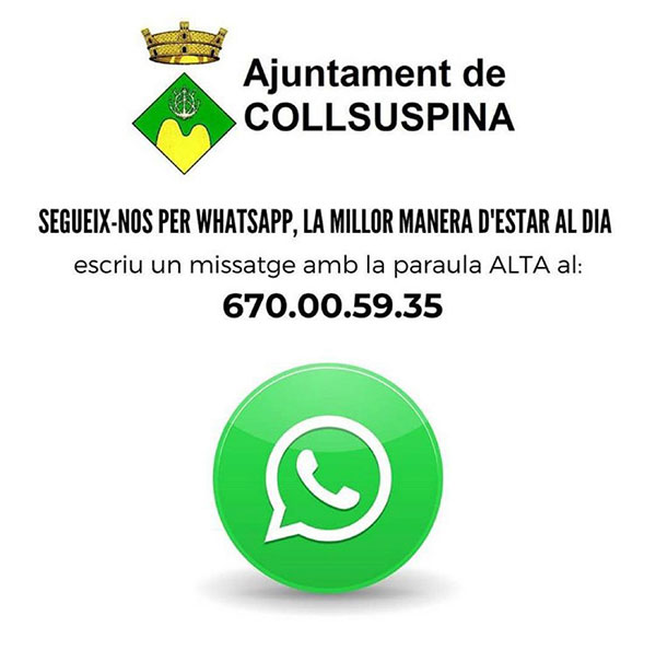 Connecta't al Whatsapp municipal