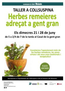 Cartell del taller Herbes remeieres adreçat a gent gran