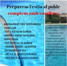Estrena de temporada de la Piscina Municipal de Collsuspina