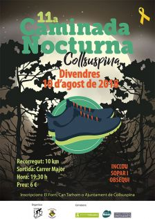 11a Caminada Nocturna de Collsuspina. Cartell promocional