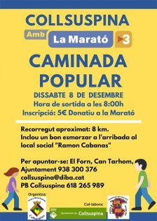 Collsuspina amb La Marató de TV3: Caminada Popular. Cartell promocional