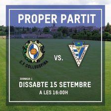 CF Collsuspina - FC Viladrau. Cartell promocional