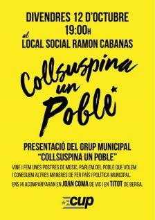 Presentació del grup municipal 'Collsuspina un poble'. Cartell promocional