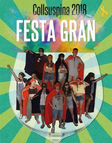 Cartell promocional de la Festa Gran 2018 de Collsuspina