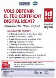 Vols obtenir el teu certificat digital idCAT?
