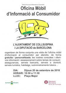 Oficina Mòbil d'Informació al Consumidor. Cartell promocional