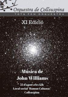 Comencen les XI Jornades de l'Orquestra de Collsuspina. Cartell promocional