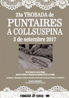 Cartell de la 23a Trobada de Puntaires a Collsuspina