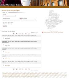 Es digitalitzen les actes del ple de l'Ajuntament de Collsuspina. Captura del web Xarxa d'Arxius Municipals