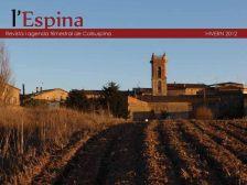 Portada de la revista l'Espina. Hivern 2012